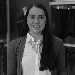 Black and white headshot of Brianna Steich